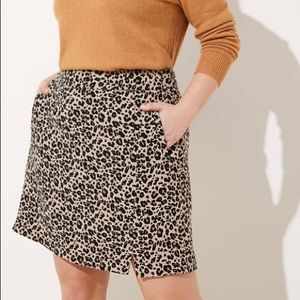 Loft leopard print skirt. Has pockets